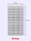 DESI Telephone Labels - ESI 48-Key Feature Phone/DSS Labels